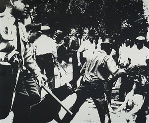 birmingham race riots [ii.3] , from ten works by ten painters, 1964 by andy warhol